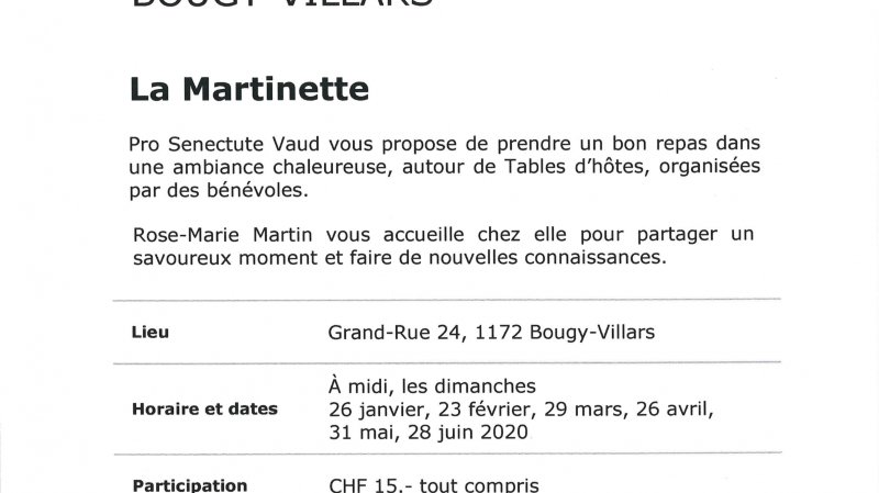 "Table d'hôtes ""La Martinette"""