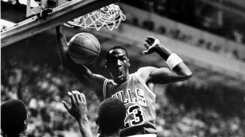Michael Jordan était bouillant face aux Celtics de Boston le 20 avril 1986. (archives)